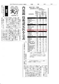 読売新聞(2017年6月4日発行)