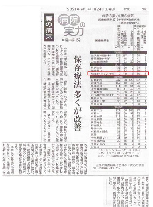 読売新聞(2021年1月24日)